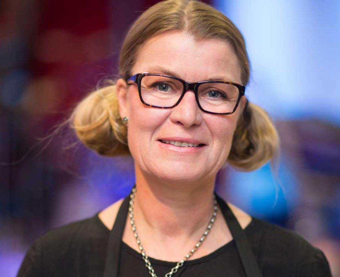 Porträtt på Petronella Odhner, rektor på Internationella Hotell- och Restaurangskolan